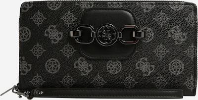 GUESS Geldbörse 'HENSELY' in grau / schwarz, Produktansicht