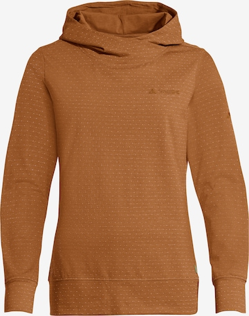 VAUDE Athletic Sweatshirt ' Tuenno ' in Brown