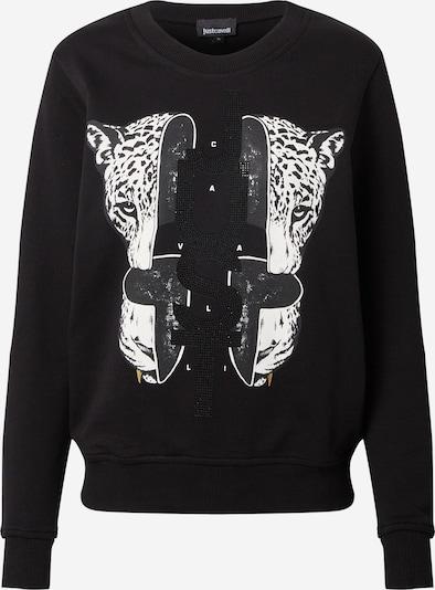Just Cavalli Sweatshirt in Black / White, Item view