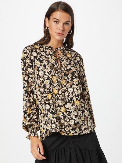 b.young Bluse 'FIONNA' in creme / gelb / schwarz / weiß, Modelansicht