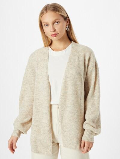 Cream Knit Cardigan 'Merle' in Beige, View model