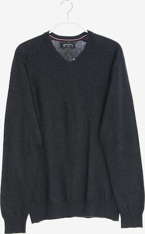 Springfield Baumwoll-Pullover in M-L in Grau