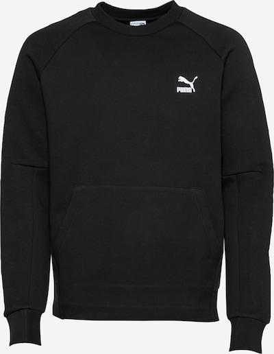 PUMA Sweatshirt in de kleur Zwart / Wit, Productweergave