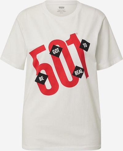 LEVI'S T-Krekls 'HOUSEMARK', krāsa - sarkans / melns / balts, Preces skats