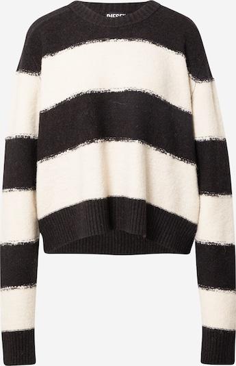 DIESEL Sweater 'VIRGINIA' in Black / White, Item view