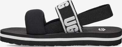 UGG Sandale in schwarz / weiß, Produktansicht