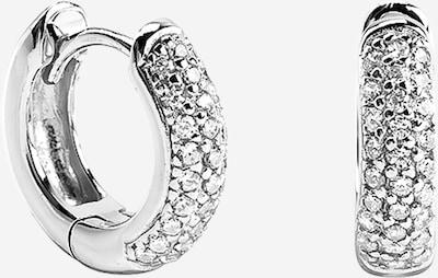 Cercei 'Bonnie' OHH LUILU pe argintiu / alb, Vizualizare produs