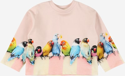 Molo Sweat-shirt 'Mikko' en bleu / jaune pastel / jaune foncé / rose ancienne / noir, Vue avec produit