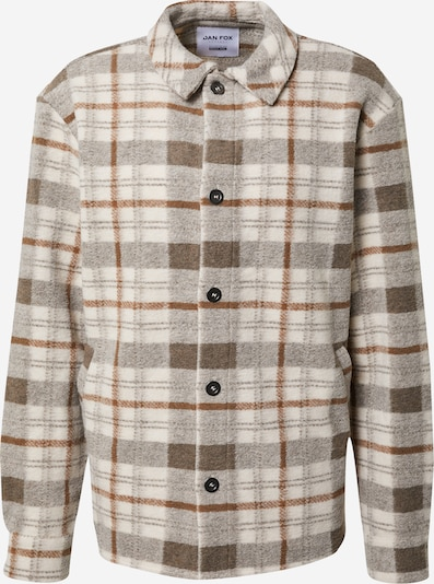 DAN FOX APPAREL Jacke 'Lean' in beige / braun / rostbraun, Produktansicht