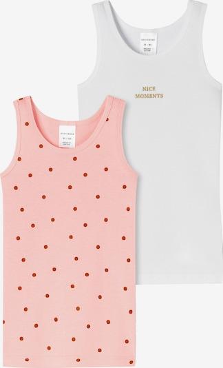 SCHIESSER Unterhemd in pink / hellrot / weiß, Produktansicht