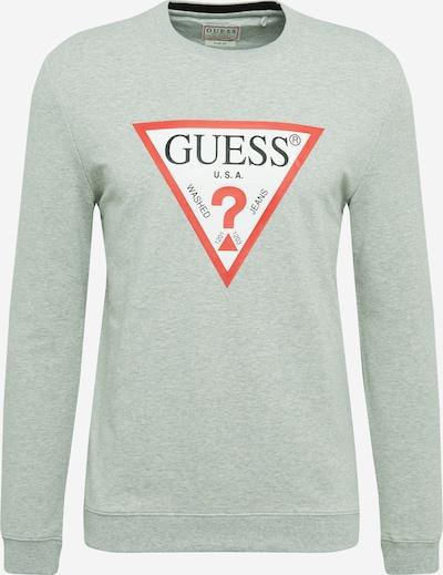 GUESS Sweatshirt in graumeliert / rot / weiß, Produktansicht