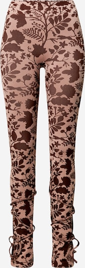 NU-IN Leggings i brun / rosa, Produktvy