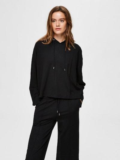 SELECTED FEMME Sweatshirt in schwarz: Frontalansicht