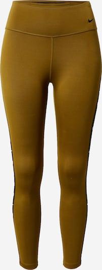 NIKE Pantalon de sport 'One' en olive / noir / blanc, Vue avec produit