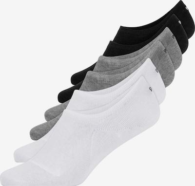 SNOCKS Füßlinge in grau / schwarz / weiß, Produktansicht
