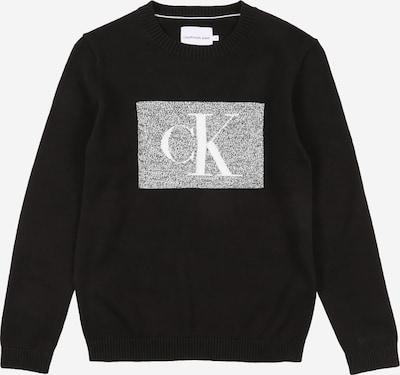 Calvin Klein Jeans Pullover in graumeliert / schwarz / weiß, Produktansicht