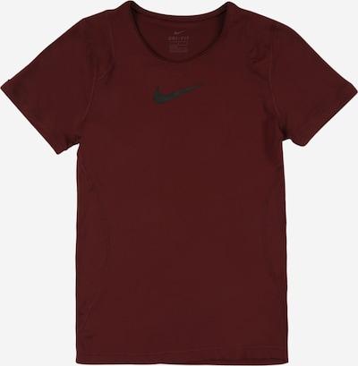 NIKE Functioneel shirt in de kleur Wijnrood / Zwart, Productweergave