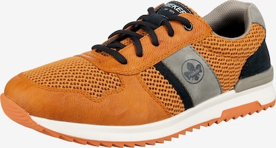 RIEKER Baskets basses en gris / orange / noir, Vue avec produit