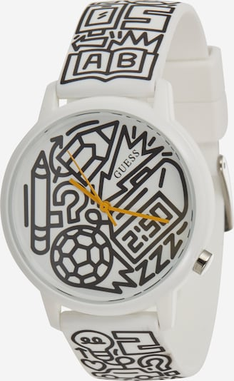 GUESS Analog watch 'TIME TO GIVE' in black / off white, Item view