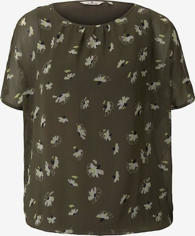 TOM TAILOR Bluse in khaki / schilf / lavendel, Produktansicht