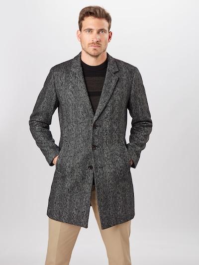 Rudeninis-žieminis paltas iš JACK & JONES , spalva - margai juoda, Modelio vaizdas