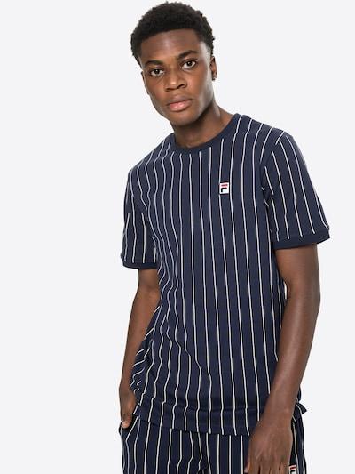 FILA Тениска в тъмносиньо / бяло, Преглед на модела