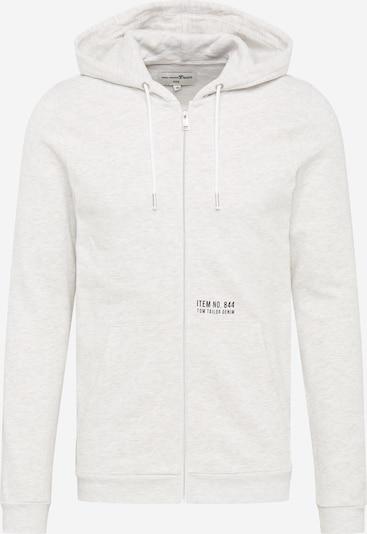 TOM TAILOR DENIM Tepláková bunda - biela, Produkt
