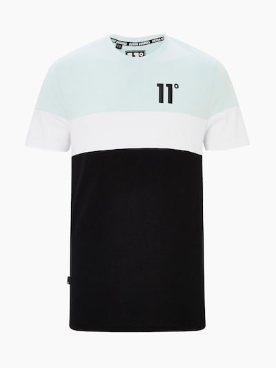 11 Degrees Shirt 'TRIPLE PANEL CUT AND SEW' in de kleur Mintgroen / Zwart / Wit, Productweergave