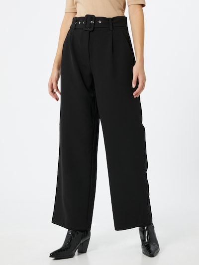 JACQUELINE de YONG Pleat-front trousers 'Pine' in black, View model