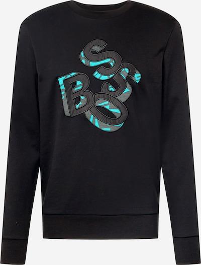 BOSS Sweater majica 'Stadler' u plava / bazalt siva / crna, Pregled proizvoda