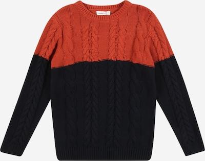 NAME IT Sweter w kolorze rdzawoczerwony / czarnym: Widok z przodu