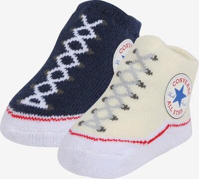 CONVERSE Socken 'Chuck Taylor' in navy / pastellgelb / mischfarben, Produktansicht