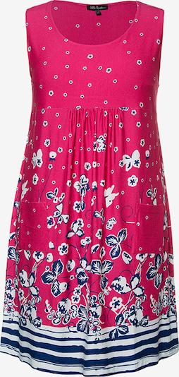 Ulla Popken Kleid in enzian / hellblau / pink / weiß, Produktansicht