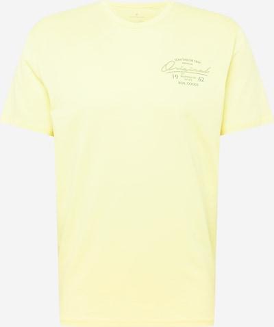 TOM TAILOR T-Krekls pasteļdzeltens / melns, Preces skats