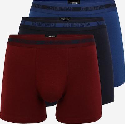 jbs Boxershorts in dunkelblau / burgunder, Produktansicht