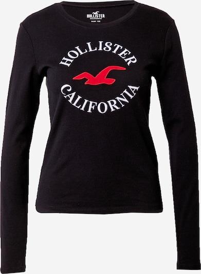 HOLLISTER Shirt in rot / schwarz / weiß, Produktansicht