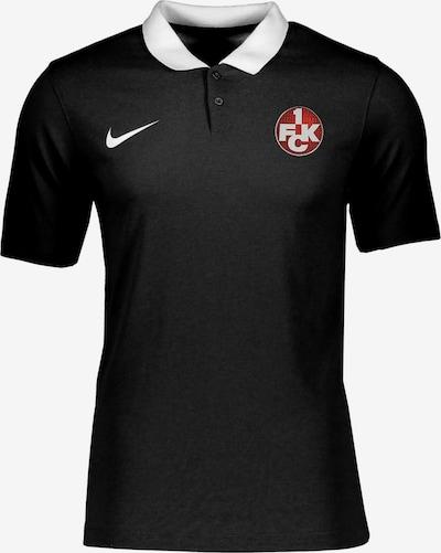 NIKE Poloshirt in rot / schwarz / weiß, Produktansicht
