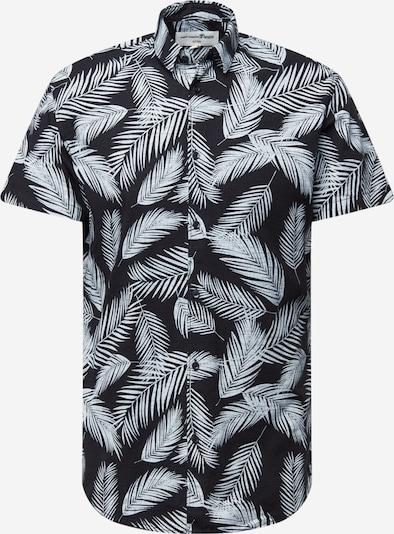 TOM TAILOR DENIM Hemd in hellgrau / schwarz, Produktansicht