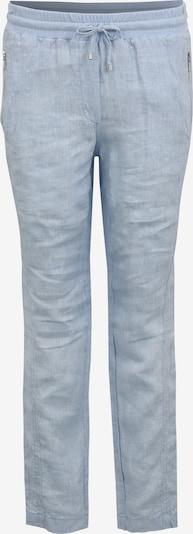 Doris Streich Leinenhose mit Reißverschlusstaschen in blau / hellblau, Produktansicht