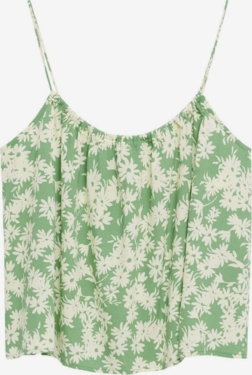 MANGO Top 'NIKI' in beige / grün, Produktansicht