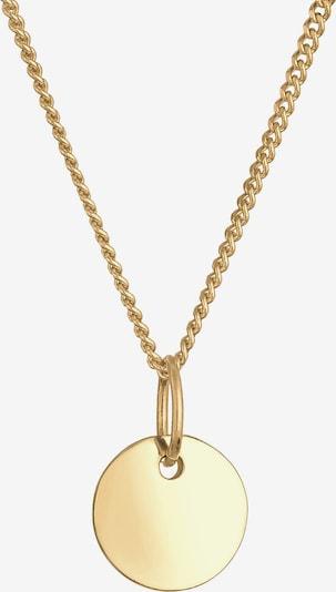 ELLI PREMIUM Halskette Kreis in gold, Produktansicht