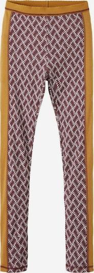 NAME IT Leggings in de kleur Bruin / Donkerrood / Wit, Productweergave