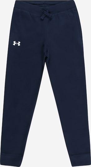 UNDER ARMOUR Спортен панталон в нейви синьо / бяло, Преглед на продукта