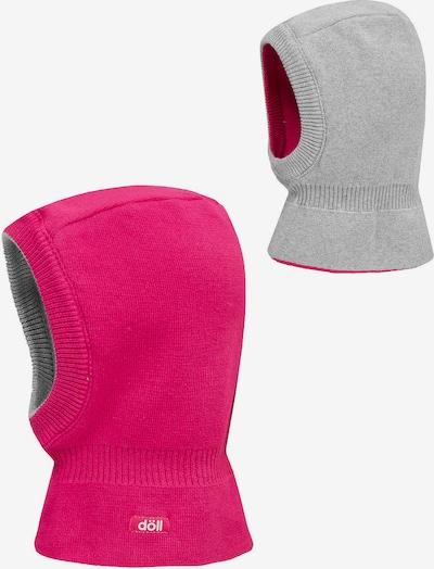 DÖLL Schlupfmütze in grau / pink, Produktansicht