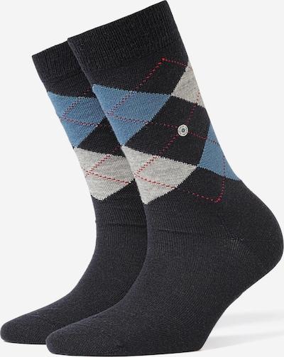 BURLINGTON Socken in blau / schwarz / weiß: Frontalansicht