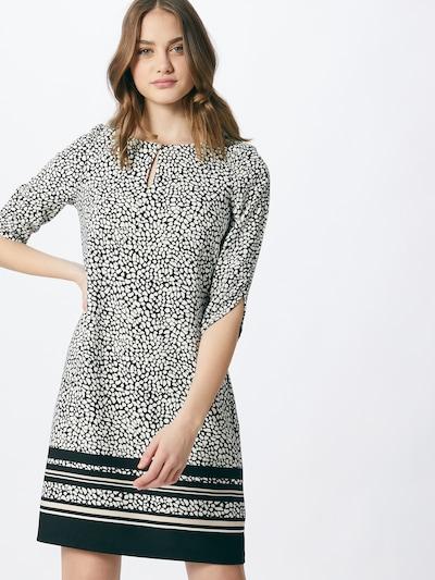 COMMA Kleid in beige / schwarz / weiß, Modelansicht