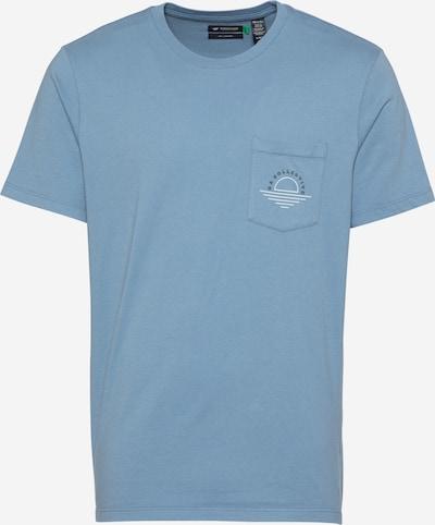 Dockers T-Shirt in rauchblau / taubenblau / weiß, Produktansicht