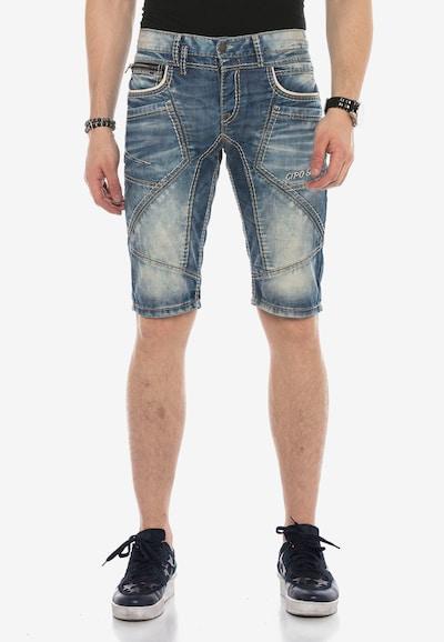 CIPO & BAXX Jeans 'CRUZ' in de kleur Blauw: Vooraanzicht