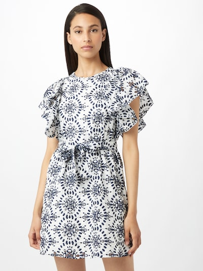 OBJECT Šaty 'TANYA' - tmavomodrá / biela, Model/-ka
