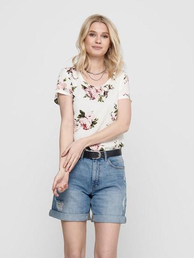 ONLY Блуза 'First' в маслина / бледорозово / мръсно бяло, Преглед на модела